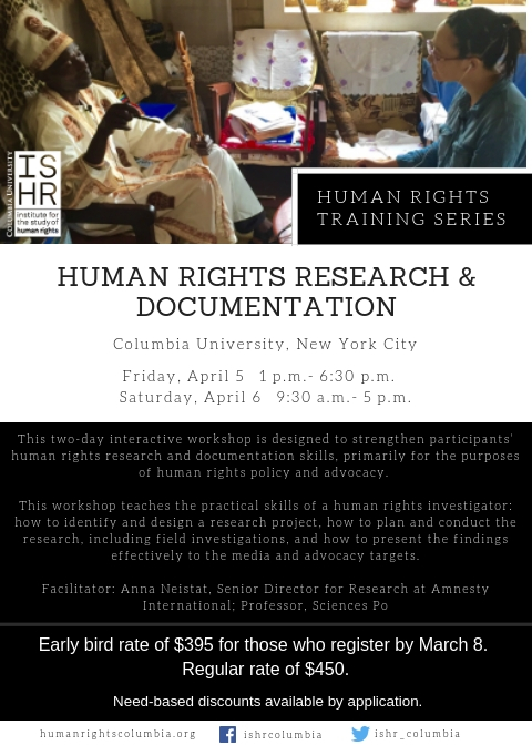 Human Rights Research and Documentation   Institute for the Study of