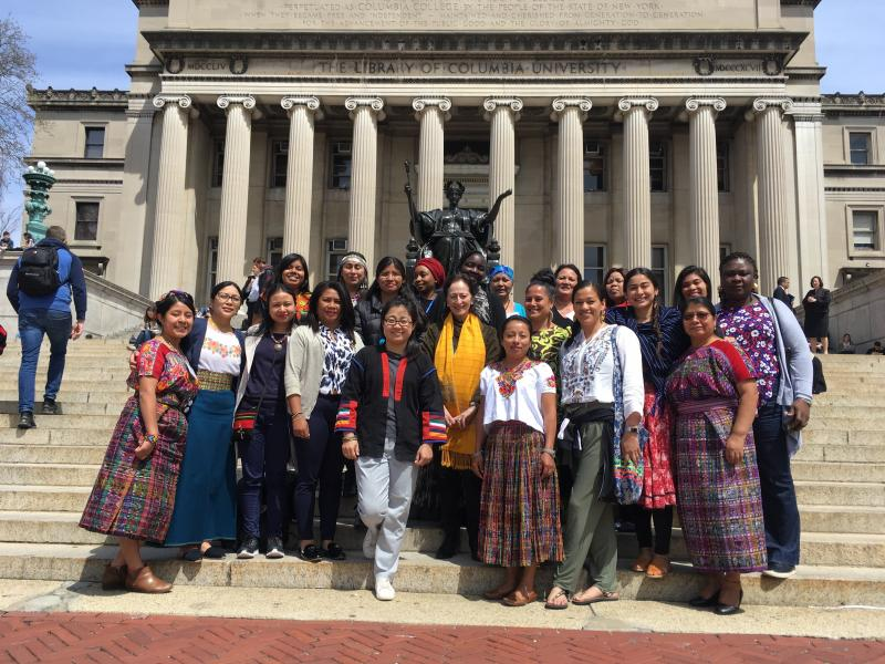 Indigenous women from FIMI at Columbia in 2019