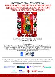 International Symposium Indigenous Peoples and Borders:  Decolonization, Contestation, Trans-border Practices