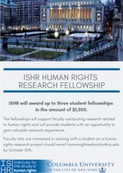 ISHR Research Fellowship